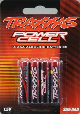 Pack of 4 Traxxas Battery Power Cell AA 1.5V Alkaline Part# TRA2911