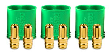 Castle Creations 6.5mm Polarized Bullet Conn Male Set 200A