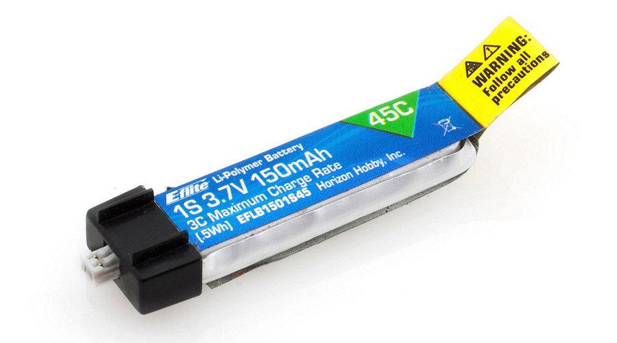 E-Flite 150mAh 1S 3.7V 45C LiPo Battery